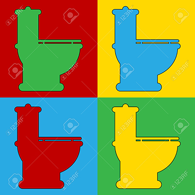 Pop art toilet symbol icons.