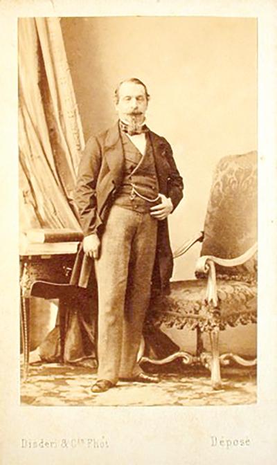 کارت ویزیت ناپلئون سوم - عکس از آندره آدولف اوژن دیزدری - 1859
