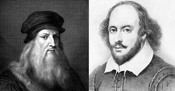 ویلیام شکسپیر و لئوناردو داوینچی