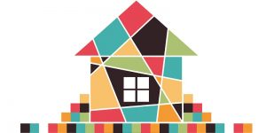 house-abstract-real-estate-vector-background-realty-theme-icon-56591525